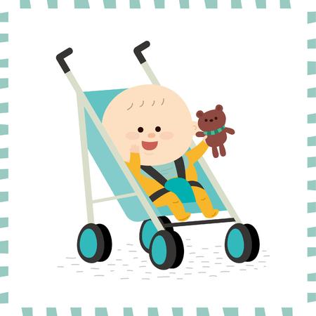 Schattige babyjongen vector illustratie. Stockfoto - 74777033