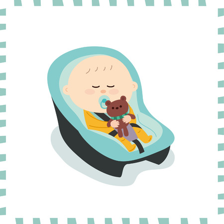 Cute baby boy vector illustration.