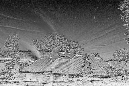 Black and white winter Stock Photo - 760699