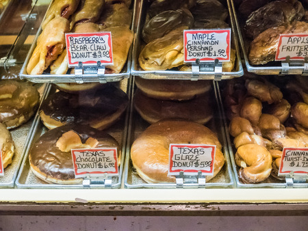 pike place: Large baked pastries at Pike Place Public Market Seattle. Editorial