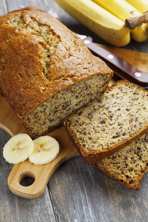 banana bread: Homemade banana cupcake on the wooden table