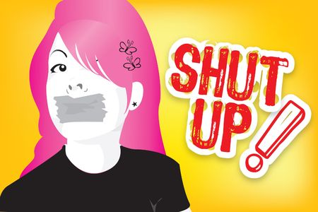 shut your mouth girl!!! photo