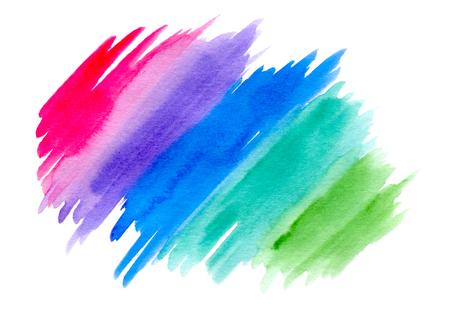 de colores: Abstract toques multicolores aislados en un fondo blanco, acuarela y la textura del papel Foto de archivo
