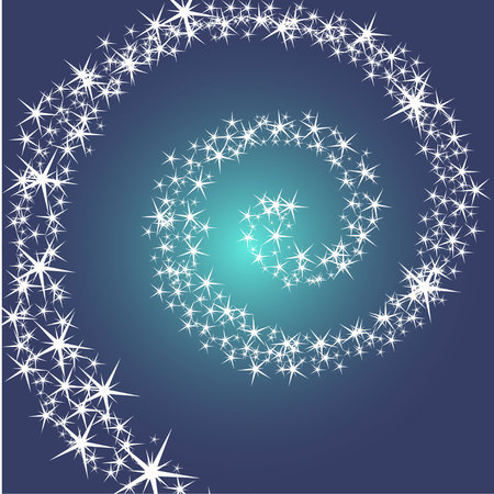 trek: Christmas card, star against the sky, vector illustration Illustration