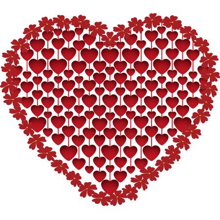 pendants: Pendants hearts heart-shaped isolated on white background, vector illustration Illustration