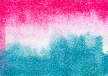 streaks: Abstract pink and blue streaks. Hand painted watercolor illustration and paper texture Stock Photo