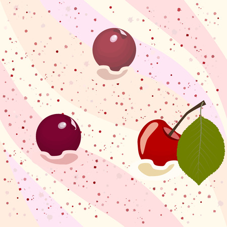 Seamless pattern cherry mousse