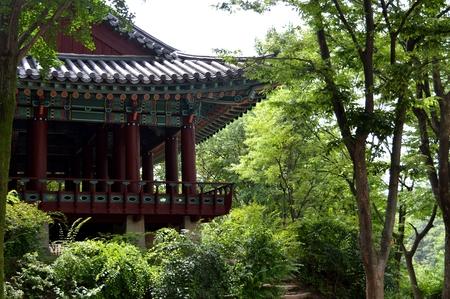 korean village. On the picture are represented korean village. Stock Photo