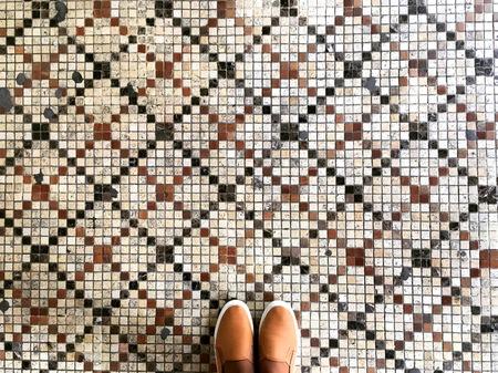Feet and mosaic