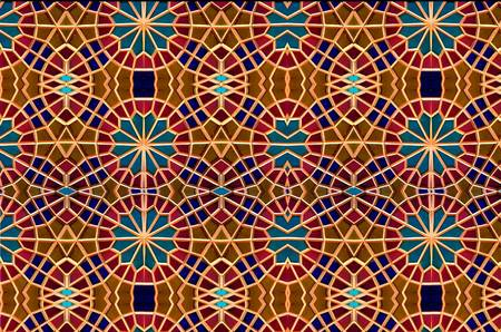 Eastern Mosaic. Patterns And Ornaments Stock Photo, Picture And ...