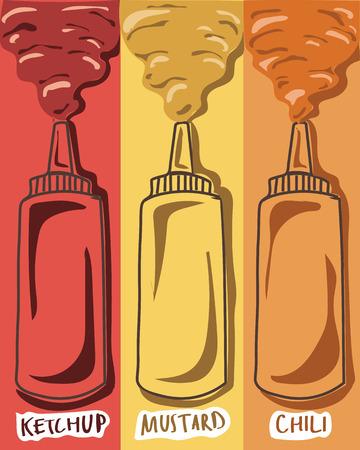 mustard: sauce ketchup mustard chili