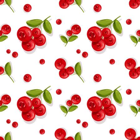 Cranberry.Seamless pattern.