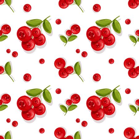 Cranberry.Seamless pattern.