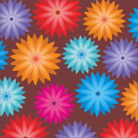flowers background: flores de fondo  Vectores