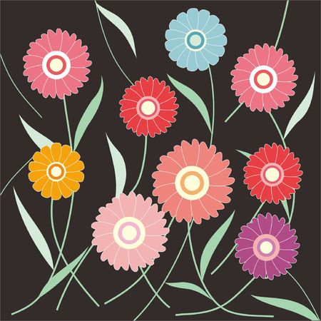 abstract flowers: flowers abstract background