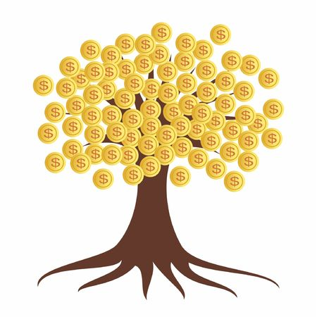 Gold tree creative material