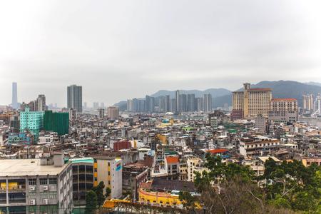 Scenic landscape on Macau skyline