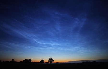 Summer nights Noctilucent clouds
