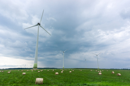 Landscape composition of ecological energy power generation Stock Photo