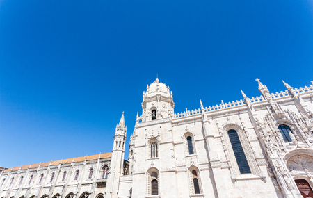 Jeronimos Monastery in Lisbon, Portugal. Summer spring Stock Photo