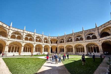Jeronimos Monastery in Lisbon, Portugal. Summer spring Standard-Bild