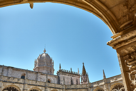 Jeronimos Monastery in Lisbon, Portugal. Summer spring Banco de Imagens