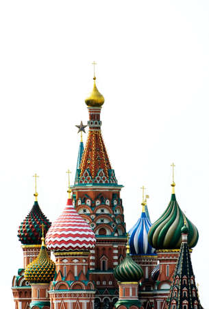 a photo of st. Basil's Cathedral on a white background Stockfoto