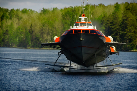 hydrofoil /boat/ from St.Petersburg to Peterhof