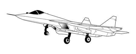 Avion de combats à réaction russe moderne.