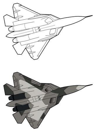 Moderne Russische straaljager vliegtuigen.