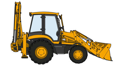 Technical draw of tractor.