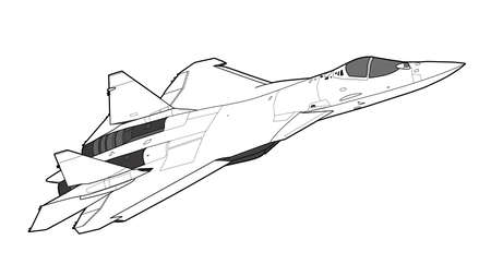Modern Russian jet fighter aircraft.