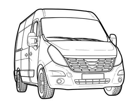 Modern minibus technical draw