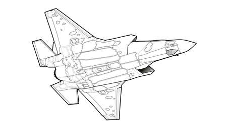 Modern American jet fighter aircraft.