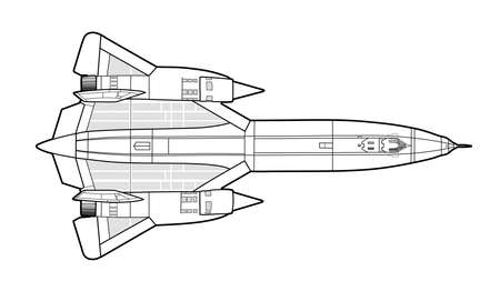 American jet fighter aircraft. Colourful technichal draw. Banque d'images - 100316978