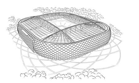 Sketch of the new stadium in Moscow.