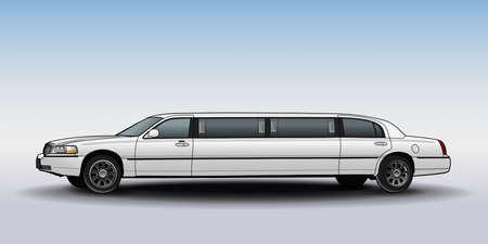 Limousine. Technical draw.