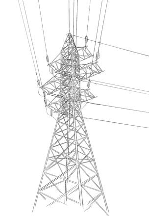 Croquis dessiné main de tour électrique