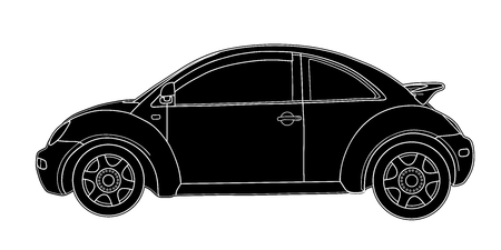 Hand drawn sketch of a modern car vector