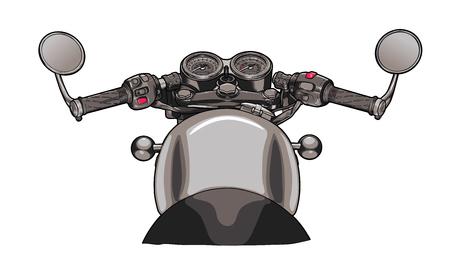 Motorcycle steering wheel flat design vector illustration