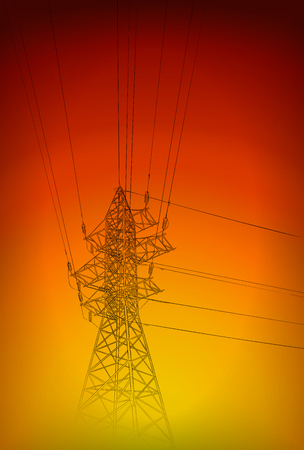 Hand drawn sketch of electric tower Vector Illustration