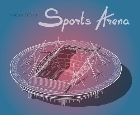 Sketch of the new stadium in Saint-Petersburg.