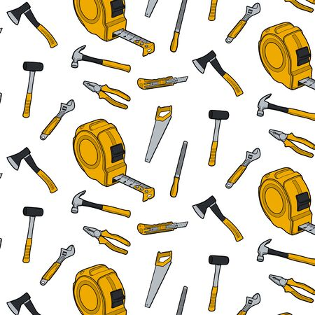 Working tools icon set vector illustration line art on white background Illustration