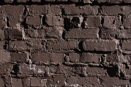 Brick Brown textured detail background art material 免版税图像