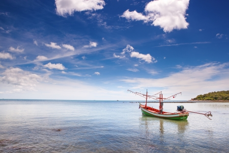 happynes: Beach in thailand with boat
