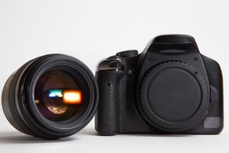 objec: Photo camera with photo lens