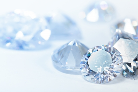 zircon: Diamonds on white background