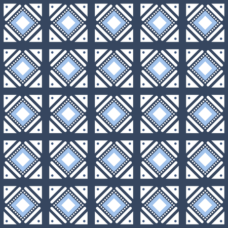 Vector seamless pattern monochrome tiling with different geometric elements in simple style for wallpaper, pattern fills, background, surface textures