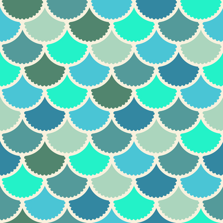 Seamless vector mermaid pattern as colorful fish scale magic background for textile, posters, greeting cards, cases etc