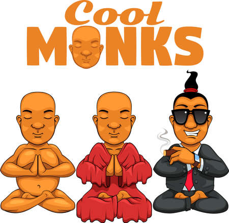 Monk Mascot illustration. Vector graphics, works well with anything. Let this be your new mascot.